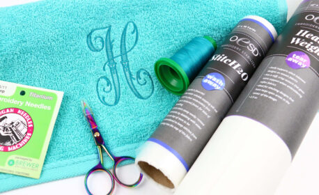 How to embroider towels at WeAllSew