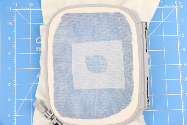 we all sew part embroider on sheer materials embroidery on handkerchief wash away stabilizer