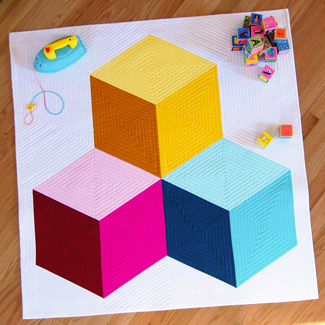 Tumbling Blocks Baby Quilt Pattern.Colossal Blocks Quilt Along Part 1 Materials And Cutting
