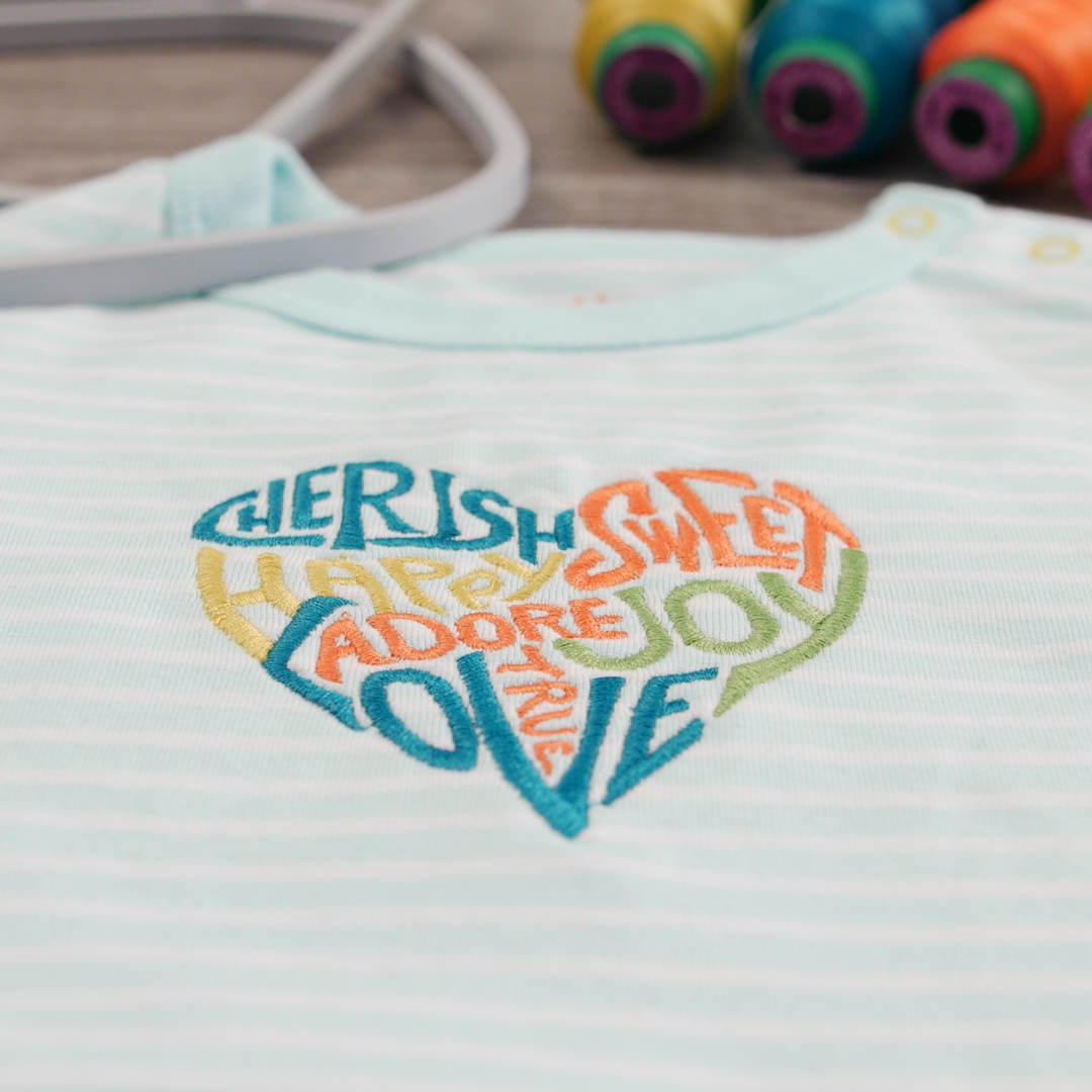 I Love New Jersey  Baby Bodysuit Embroidered