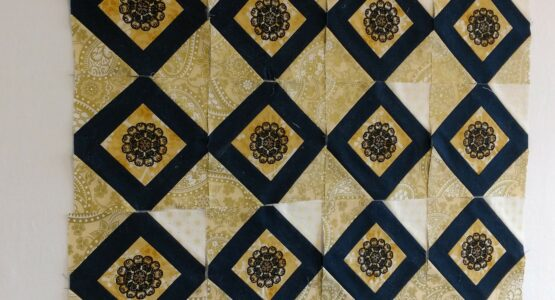 Cheryl's corner stone embroidery blog 2 of the 125 th aniversary quilt along