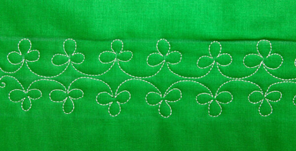 Free-motion Quilting Shamrocks