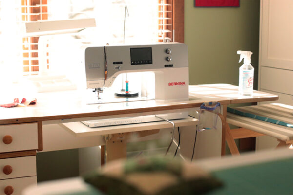 BERNINA 770 QE in a sewing room