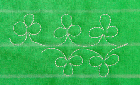 Free-motion Stitching Shamrocks