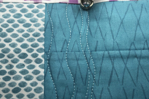 Free-motion fills table runner tutorial at WeAllSew