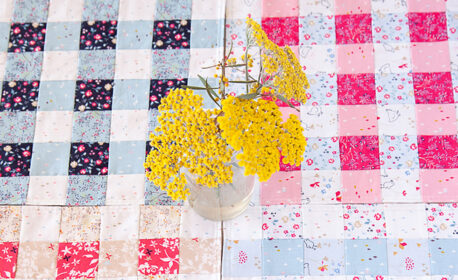 Gingham placemats tutorial at WeAllSew