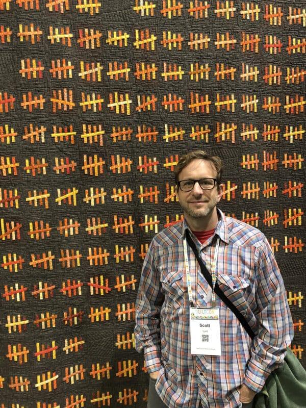 Scott Lunt at QuiltCon 2019