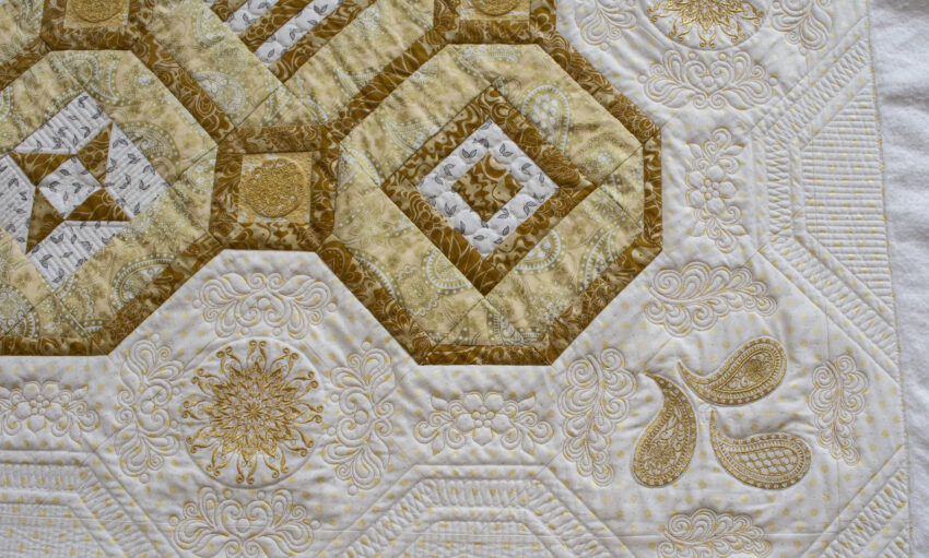 border embroidery detail