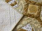 quilt detail binding, mitered corner