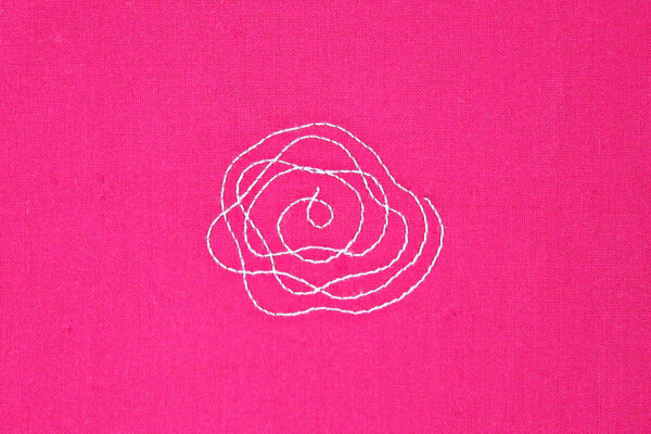 Free-motion quilting Nora's Rose