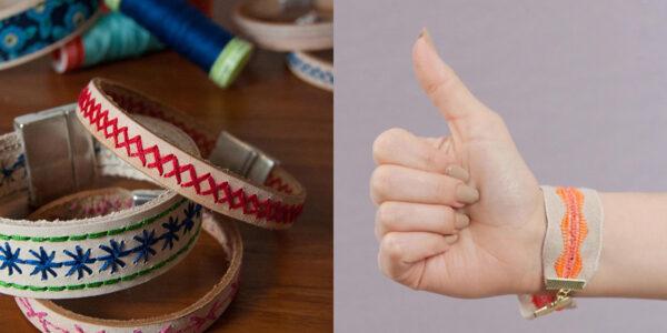 Cuff bracelet tutorials at WeAllSew 1200 x 600