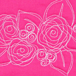 Free motion quilting Nora's Rose at WeAllSew