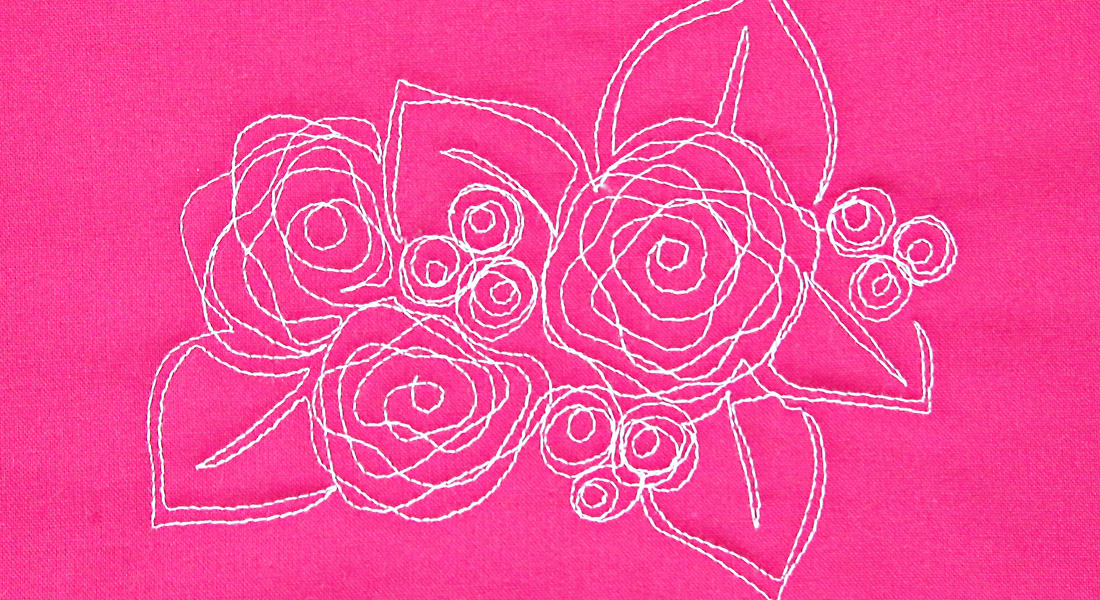 Free Motion Quilting Nora's Rose