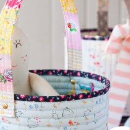 Quilted Easter Basket Tutorial at WeAllSew