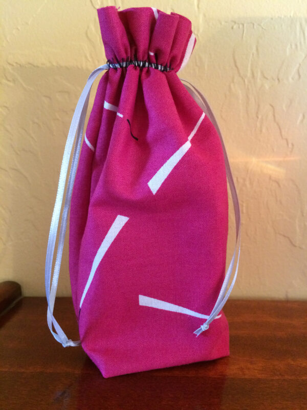 Overlocker drawstring bag tutorial from WeAllSew