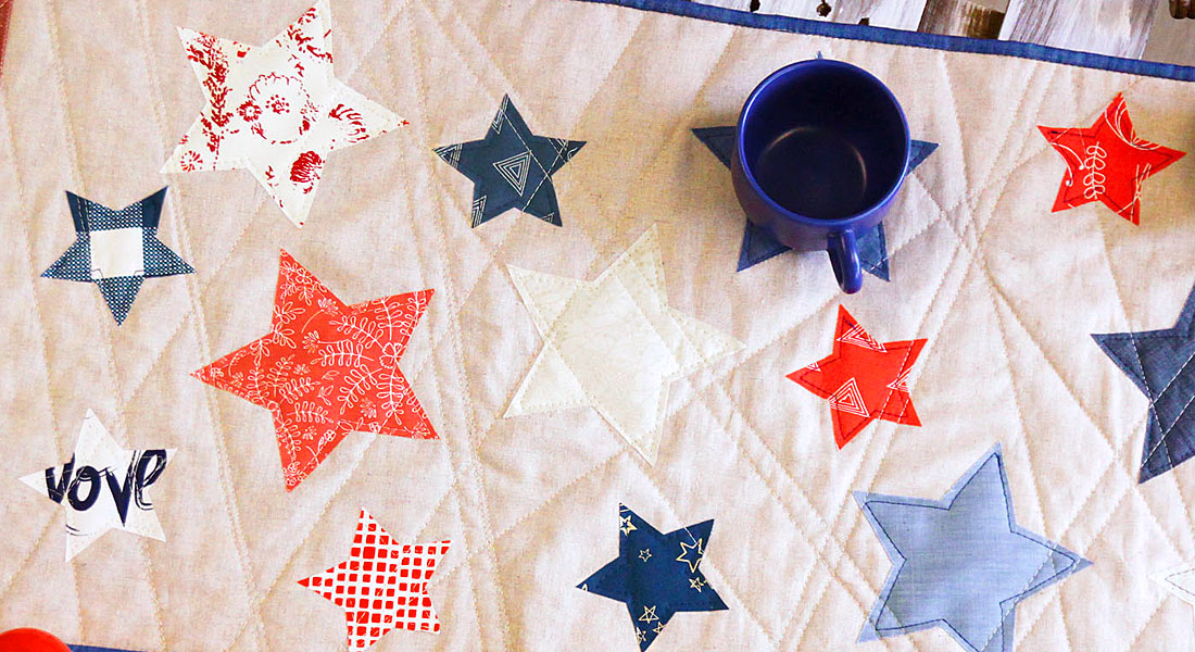 Red, white, and blue sewing projects from WeAllSew