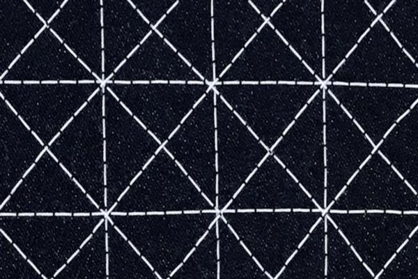 close-up of Sashiko stitch