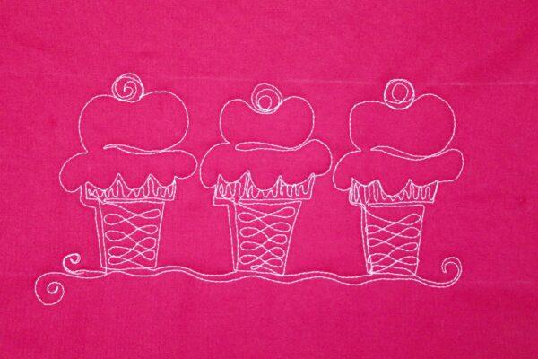 Free-motion Quilting Ice Cream Cones