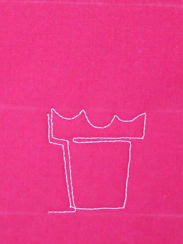 Free-motion Quilting Ice Cream Cones - step four