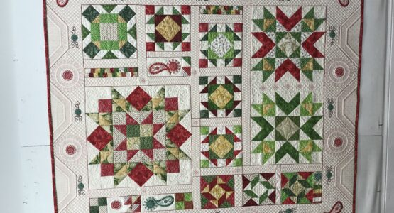 Ruby Jubilee Christmas quilt