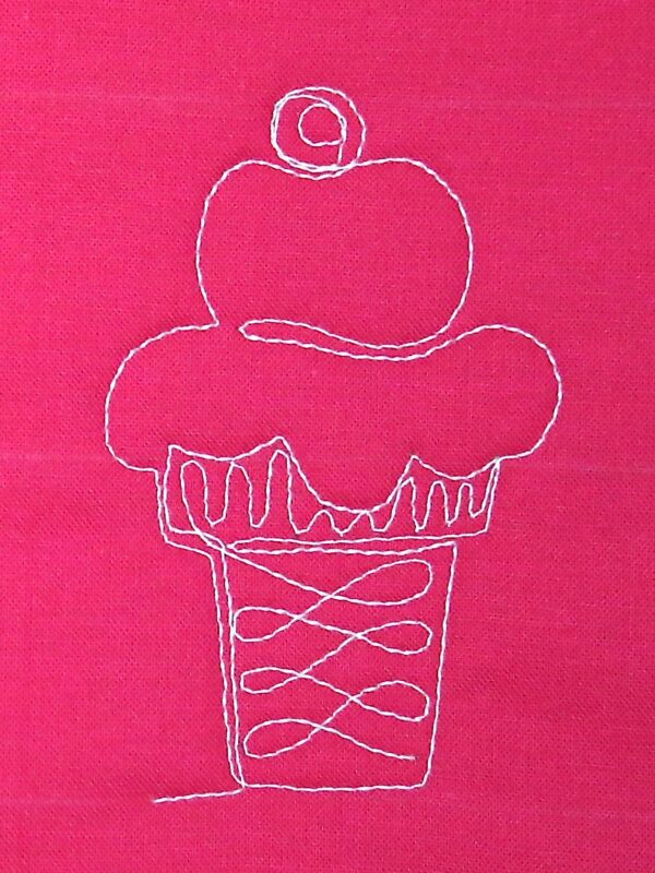 Free-motion Quilting Ice Cream Cones - step seven