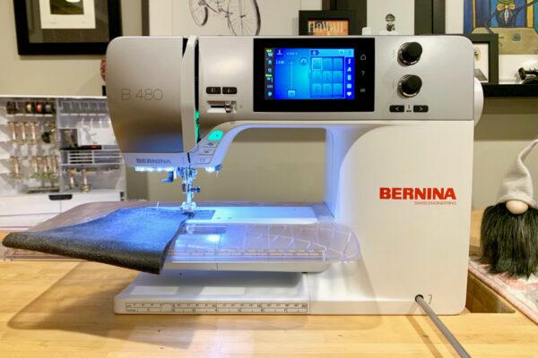 BERNINA 480 sewing leather
