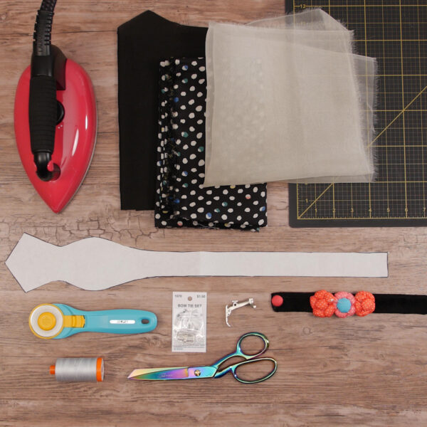 How to Sew a Bow Tie_Supplies