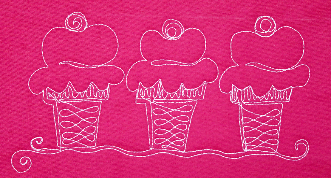 How to Free-motion Quilt Ice Cream Cones
