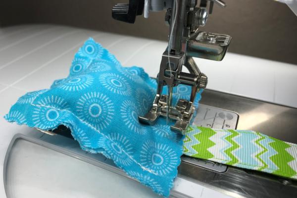 stitching the pincushion