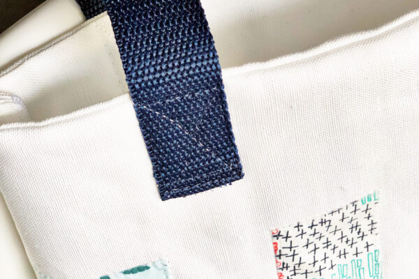 Library Book Tote and Pencil Case: Sew the straps