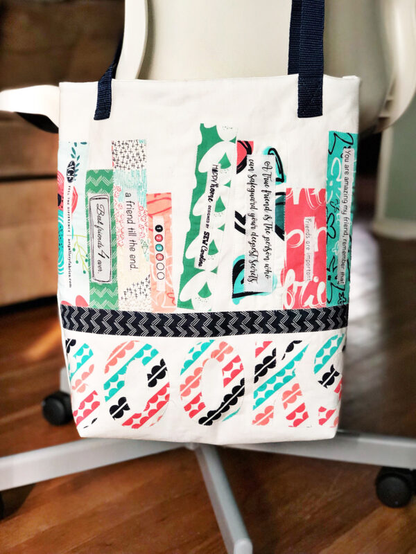 Library Book Tote and Pencil Case: Finished piece