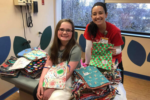 Macy Nunan Sewed Beads of Courage bead bags for donation