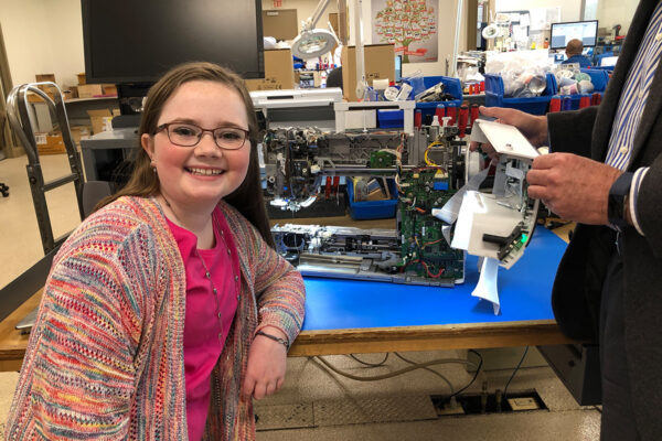 Macy sees the insides of her BERNINA 790 Plus AE sewing machine