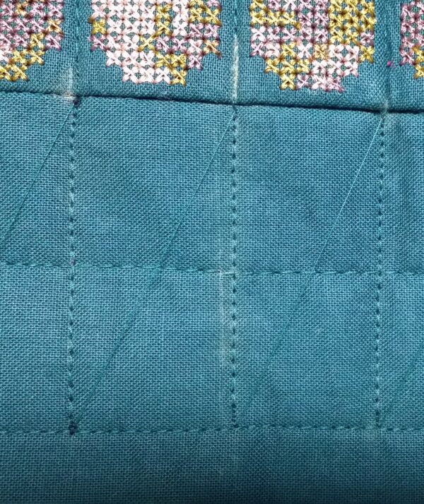 Quilting detail on the border