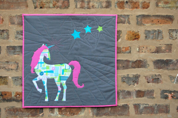 Unicorn Mini Quilt Tutorial WeAllSew