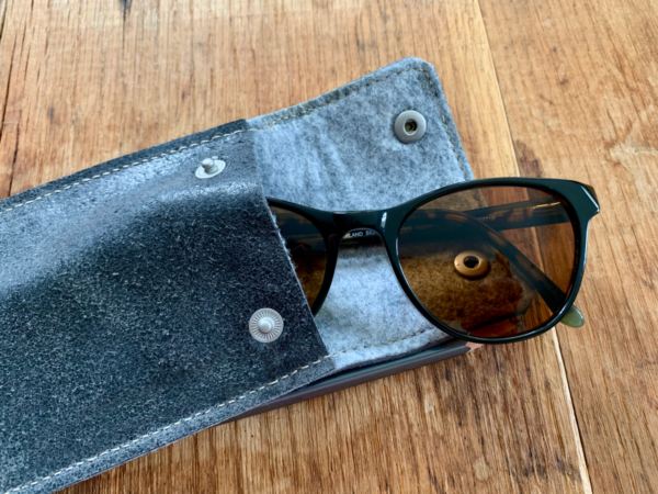 Leather sunglass case tutorial from WeAllSew