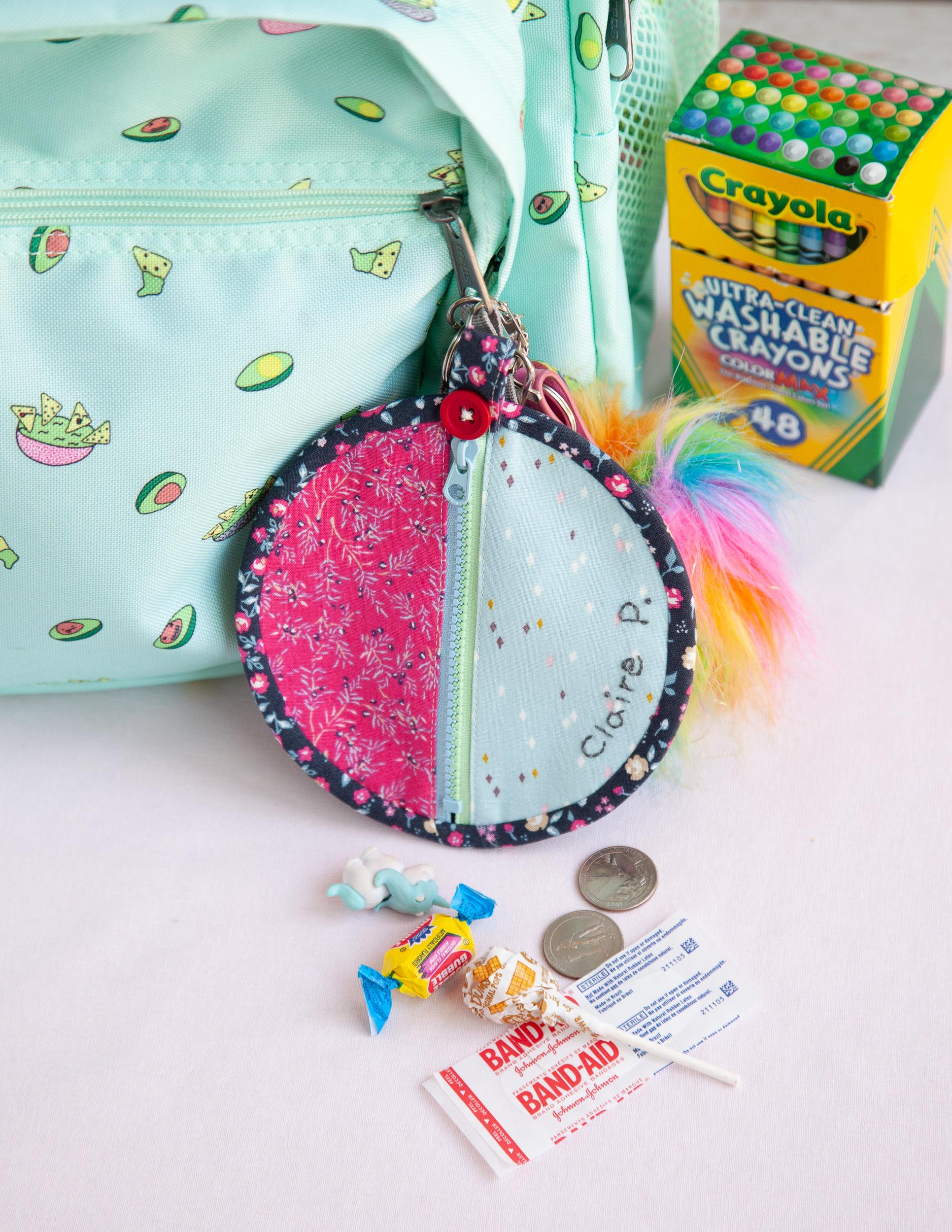 Back To School Seashells Zipper Pouch!