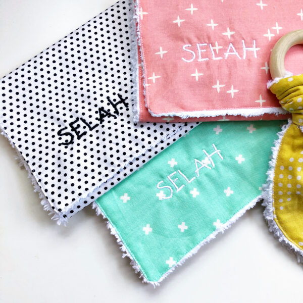 Baby Burp Cloth and Teether: Preparing the fabric for sewing