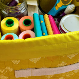 Fabric storage bin tutorial from WeAllSew