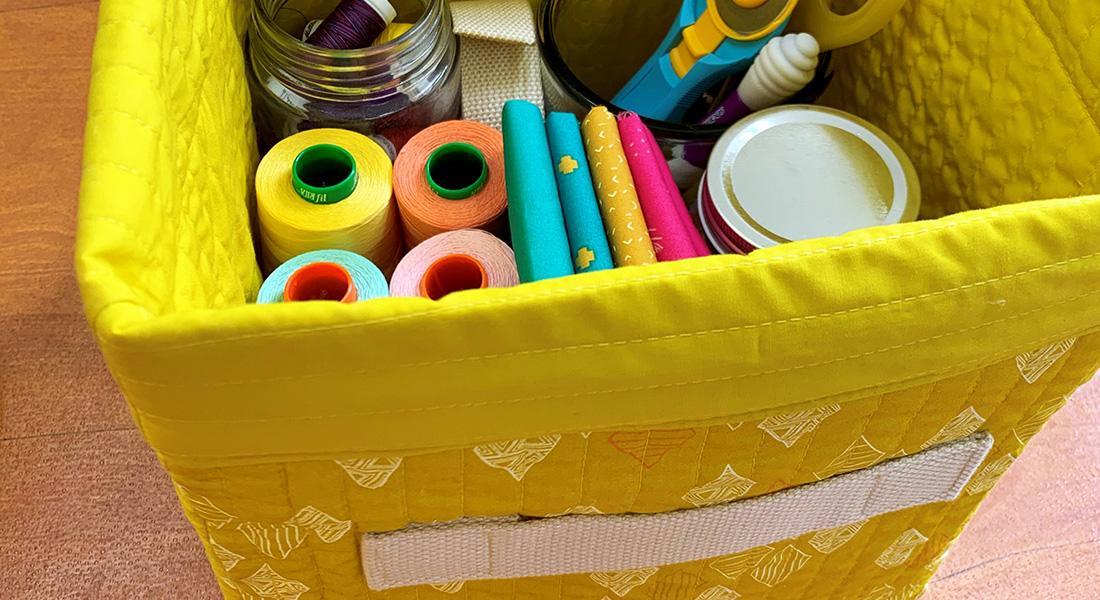 Fabric Storage Bin Tutorial Weallsew
