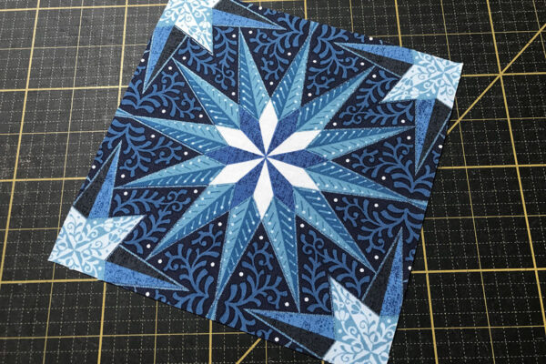 Fussy-cut stars from my Celestial Lights Star print from Fabric D