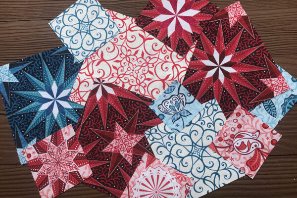 Stardust Quilt - Fussy-cuts from a variety of Celestial Lights prints