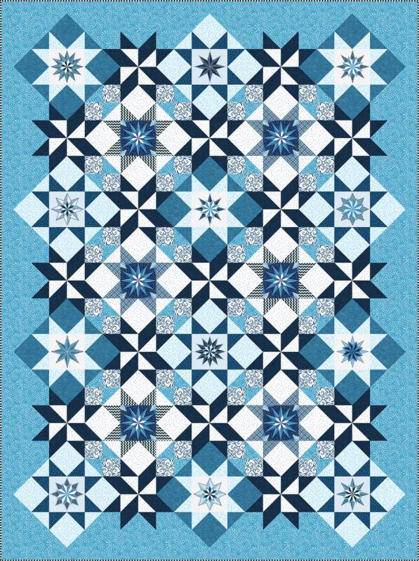 Stardust Quilt - blue