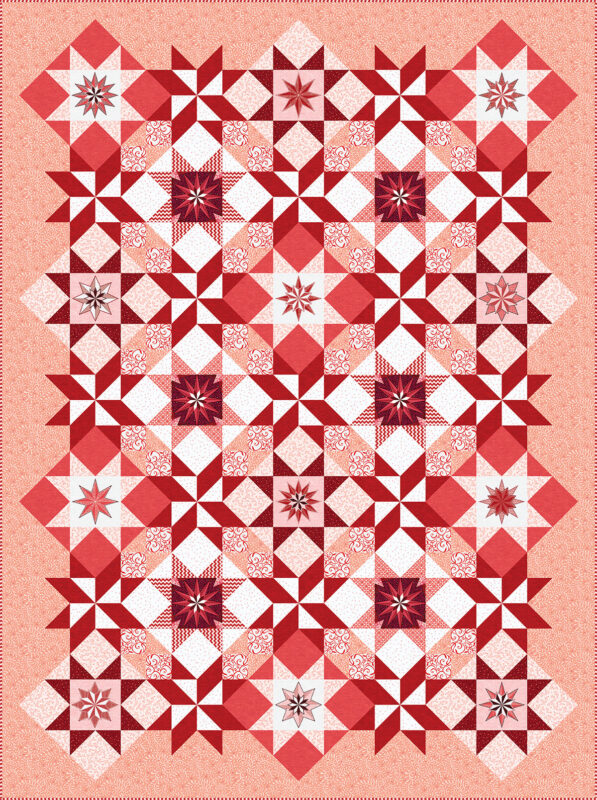 Stardust Quilt - red