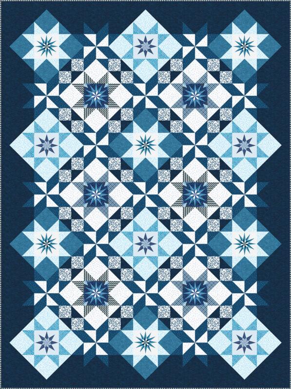 Stardust Quilt - dark blue