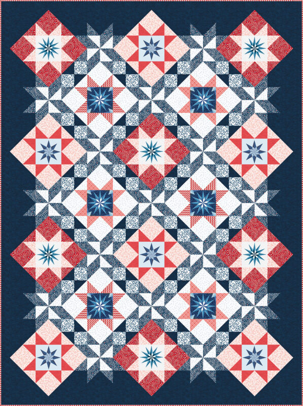 Stardust Quilt - red and blue