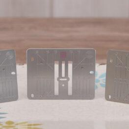 Three different Stitch Plates