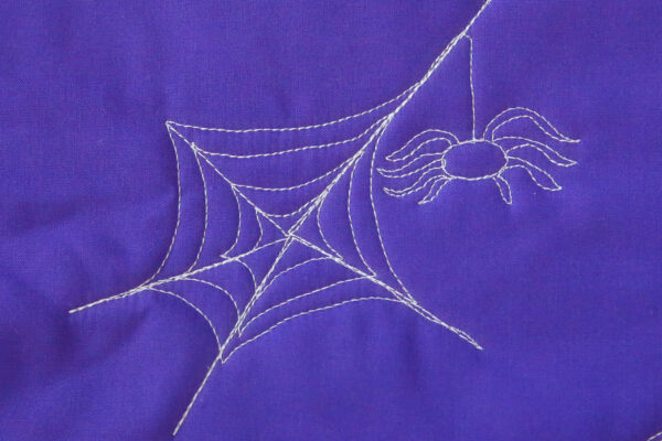 How to Free-motion Quilt a Spider Web