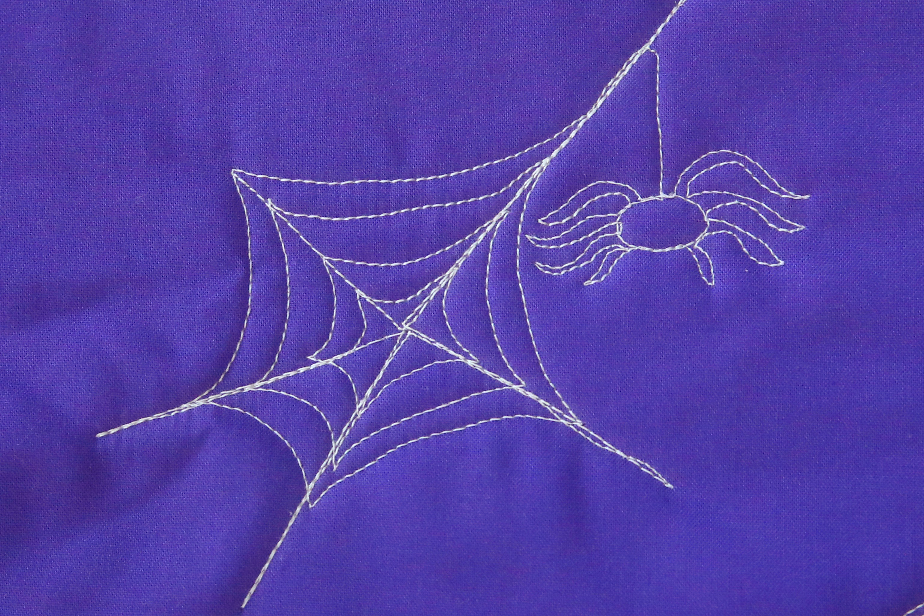 How To Free Motion Quilt A Spider Web Weallsew