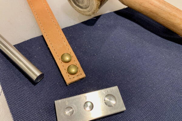 Adding Leather Accents Setting Rivets